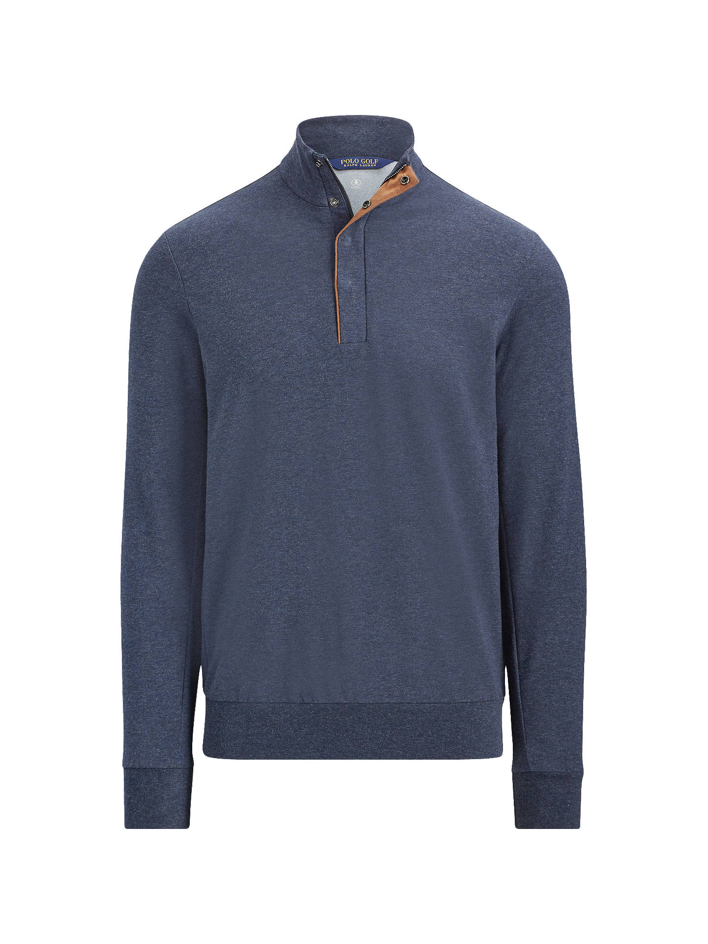 Buy Polo Ralph Lauren Long Sleeve Half Zip Jumper, Winter Navy Heather, M Online at johnlewis.com
