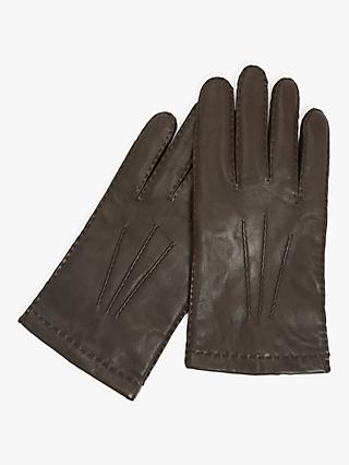 John Lewis & Partners Merino Lined Leather Gloves
