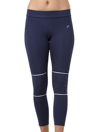Buy ASICS Lite-Show 7/8 Lengths Running Tights, Peacoat, S Online at johnlewis.com