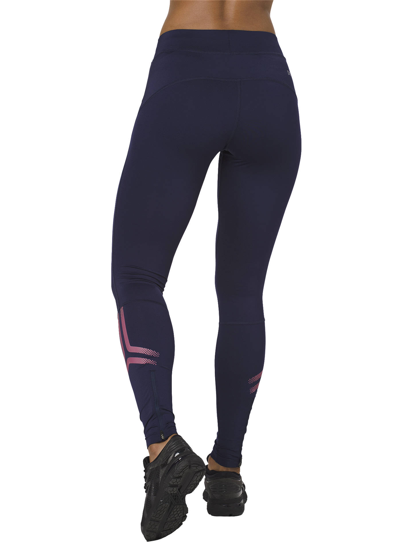 BuyASICS Icon Running Tights, Peatcoat/Pixel Pink, S Online at johnlewis.com