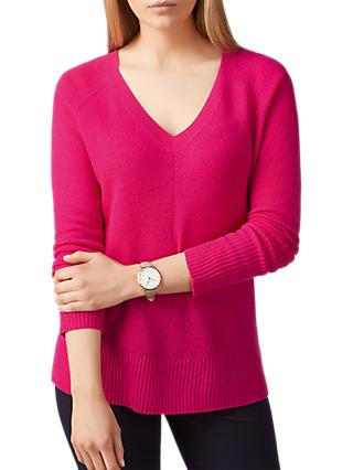 Pure Collection Gassato Cashmere Lofty Textured V-Neck Jumper