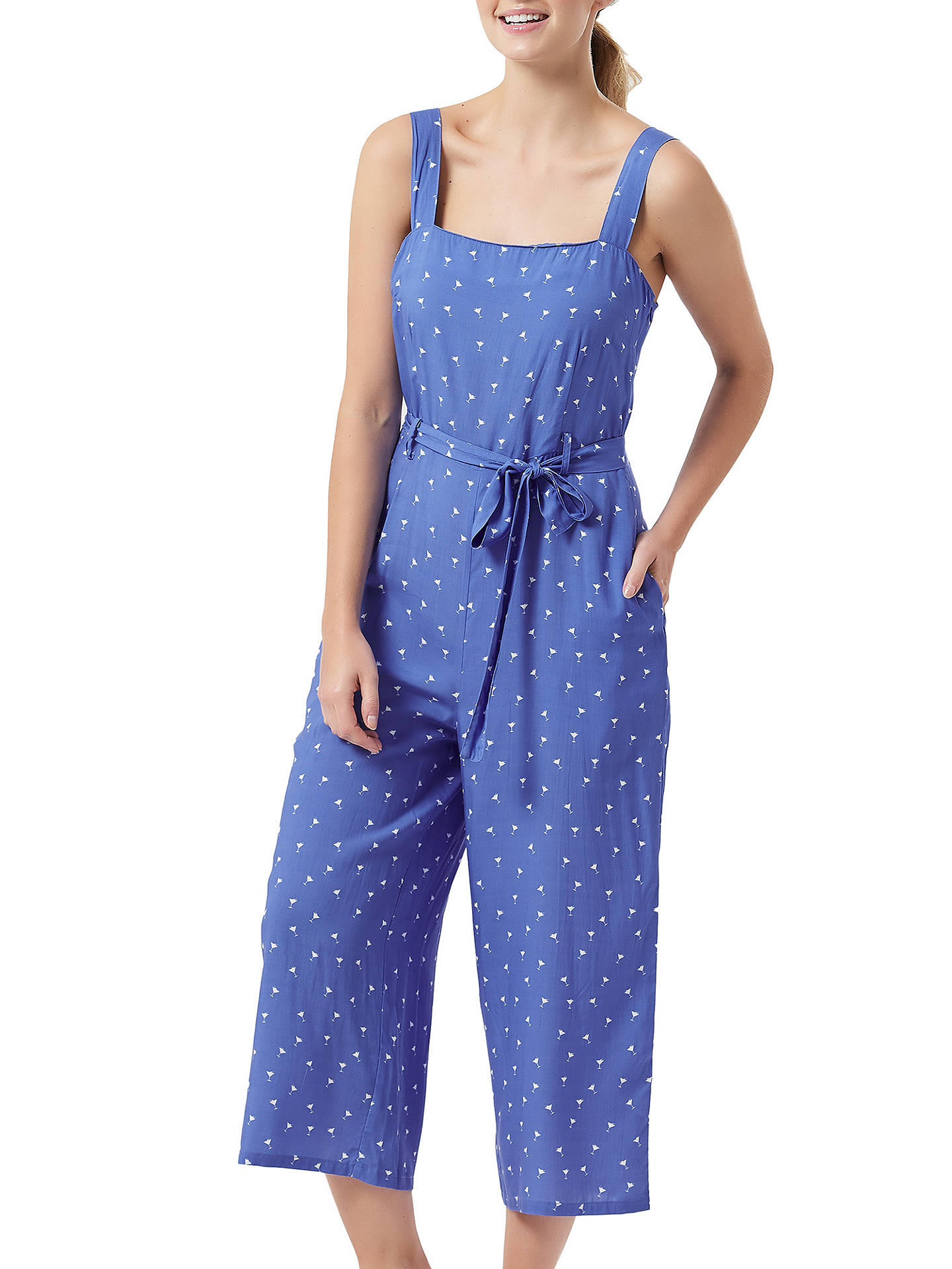 Buy Sugarhill Brighton Millie Cropped Jumpsuit, Blue, 8 Online at johnlewis.com