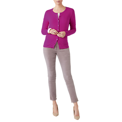 Pure Collection Crew Neck Cashmere Cardigan
