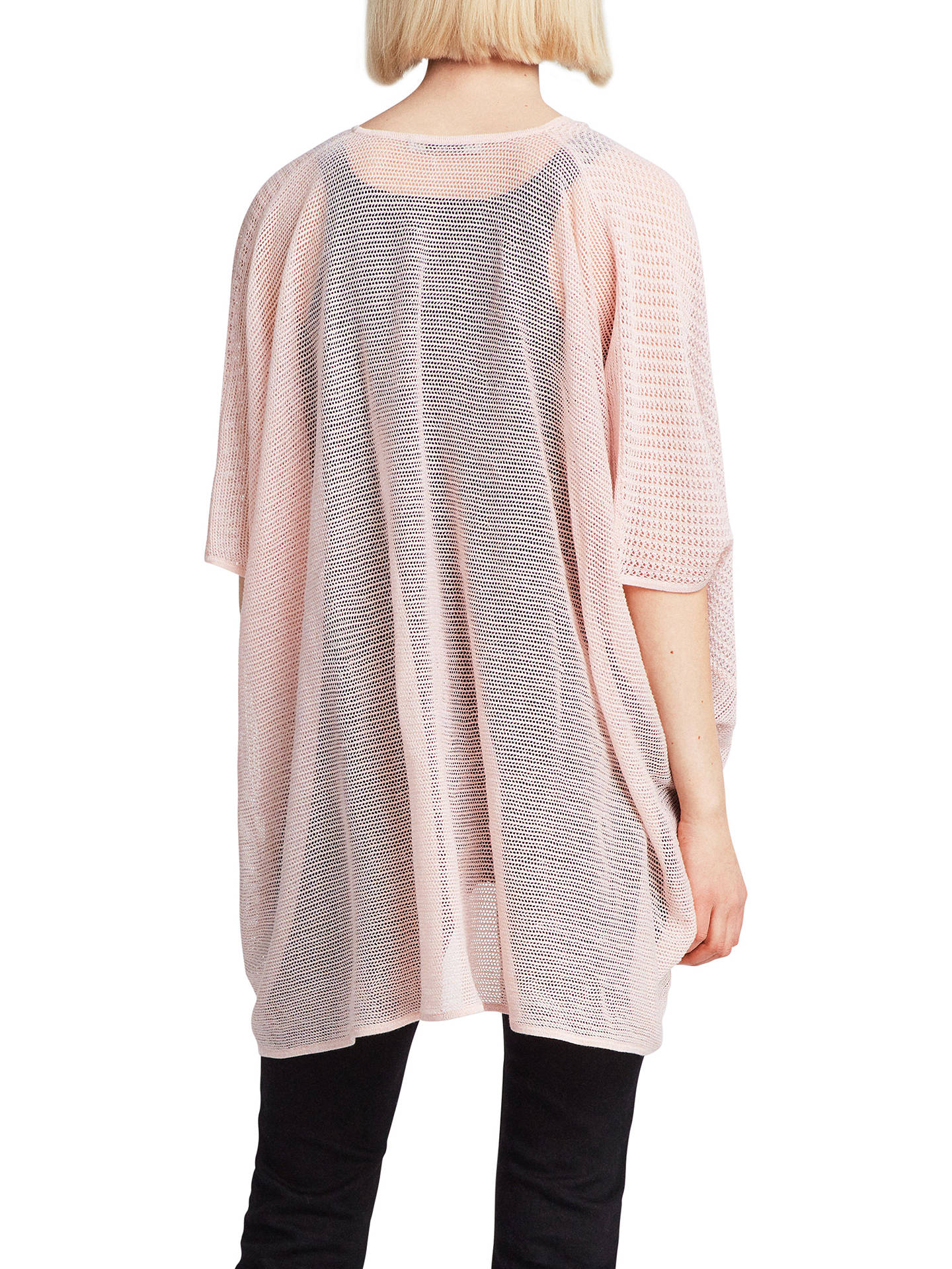 BuyAllSaints Itat Twist Knit Top, Candy Pink, XS Online at johnlewis.com