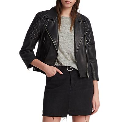 AllSaints Beattie Biker Jacket, Black