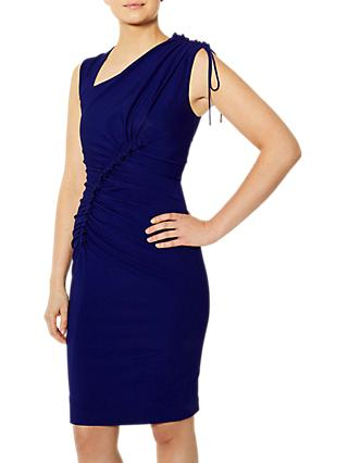 Karen Millen Ruched Front Pencil Dress, Blue