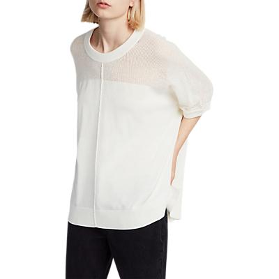 AllSaints Blois Knit T-Shirt, Cloud White