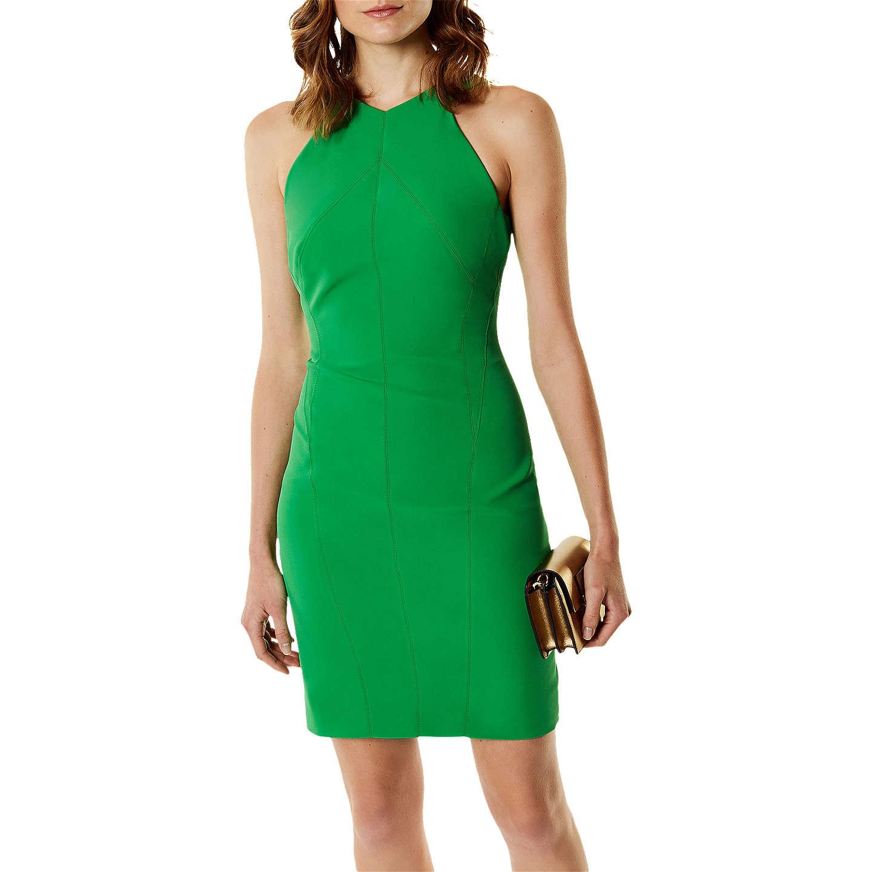 Karen Millen Fitted Pencil Dress Green at John Lewis