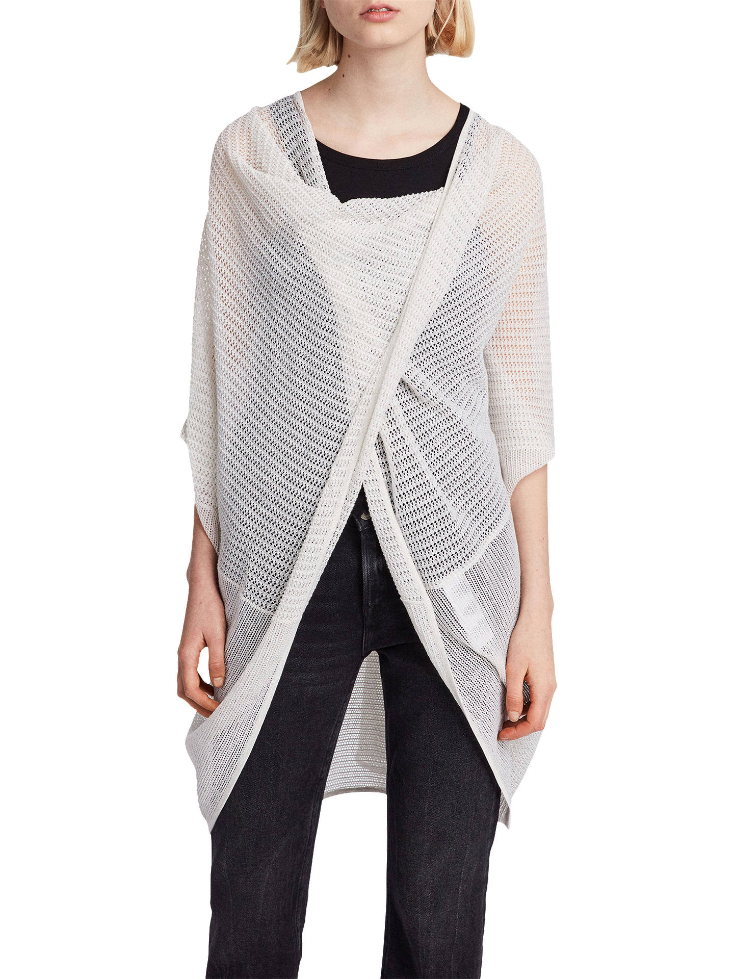 BuyAllSaints Itat Twist Knit Top, Parchment White, XS Online at johnlewis.com