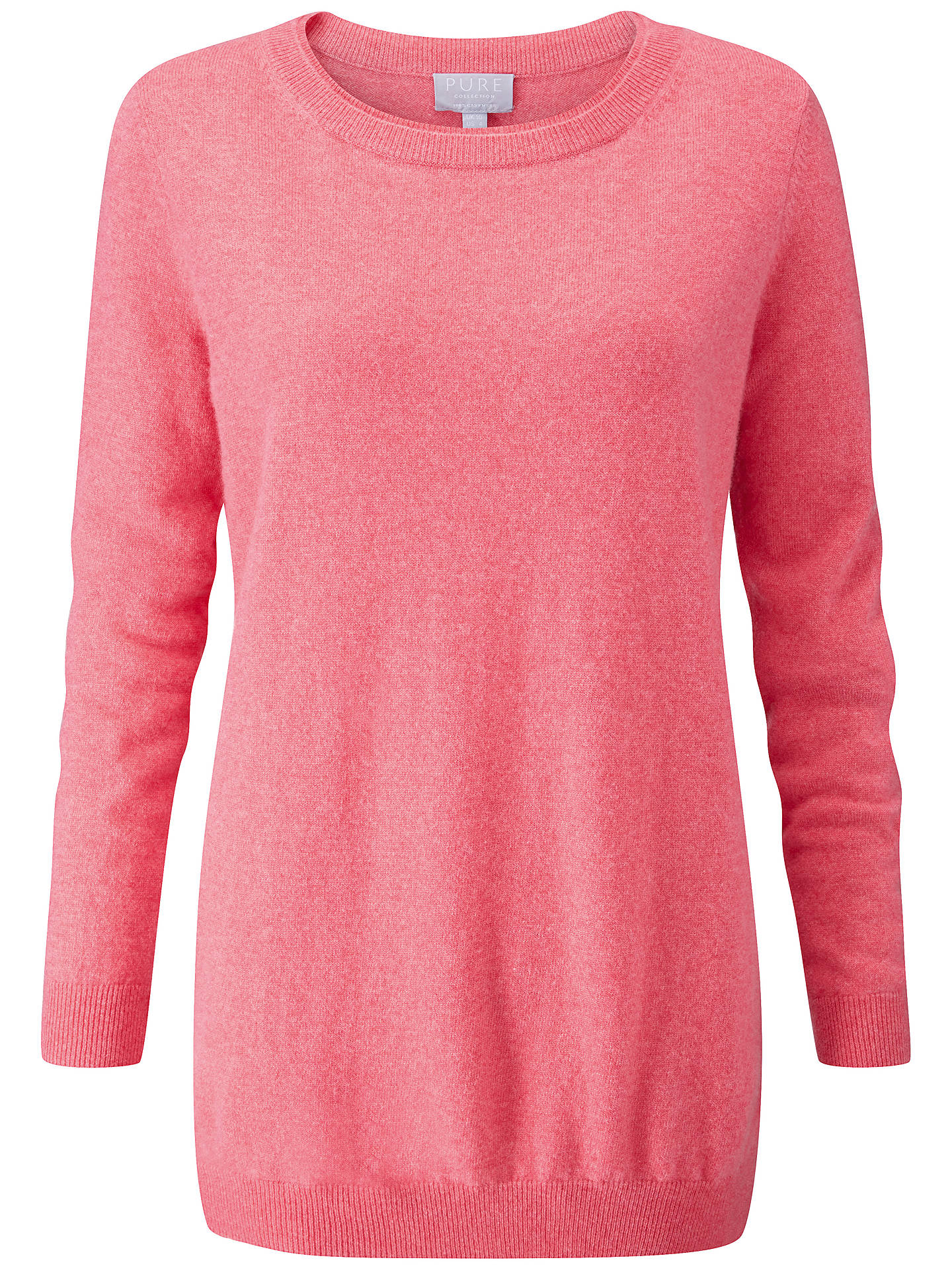 Buy Pure Collection Cashmere Boyfriend Jumper, Heather Rose, 8 Online at johnlewis.com