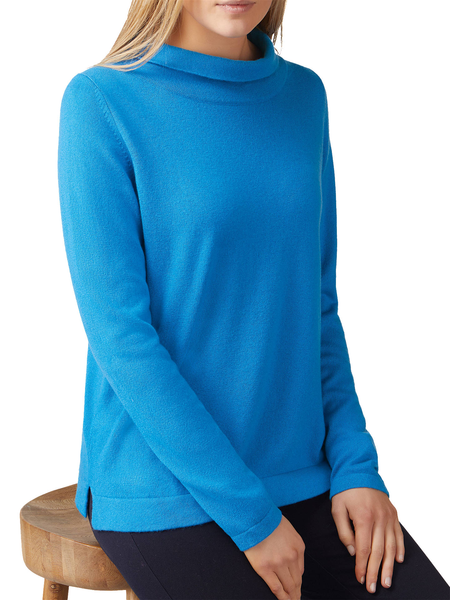 BuyPure Collection Toccato Bardot Jumper, Peacock Blue, 8 Online at johnlewis.com