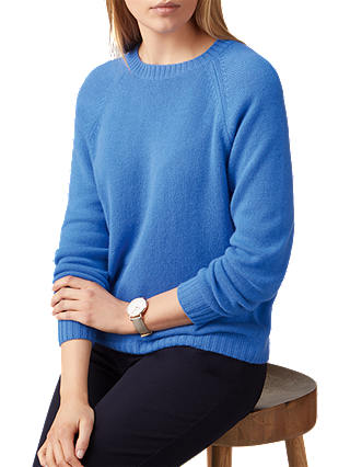 Buy Pure Collection Cashmere Lofty Jumper, Soft Cobalt, 8 Online at johnlewis.com