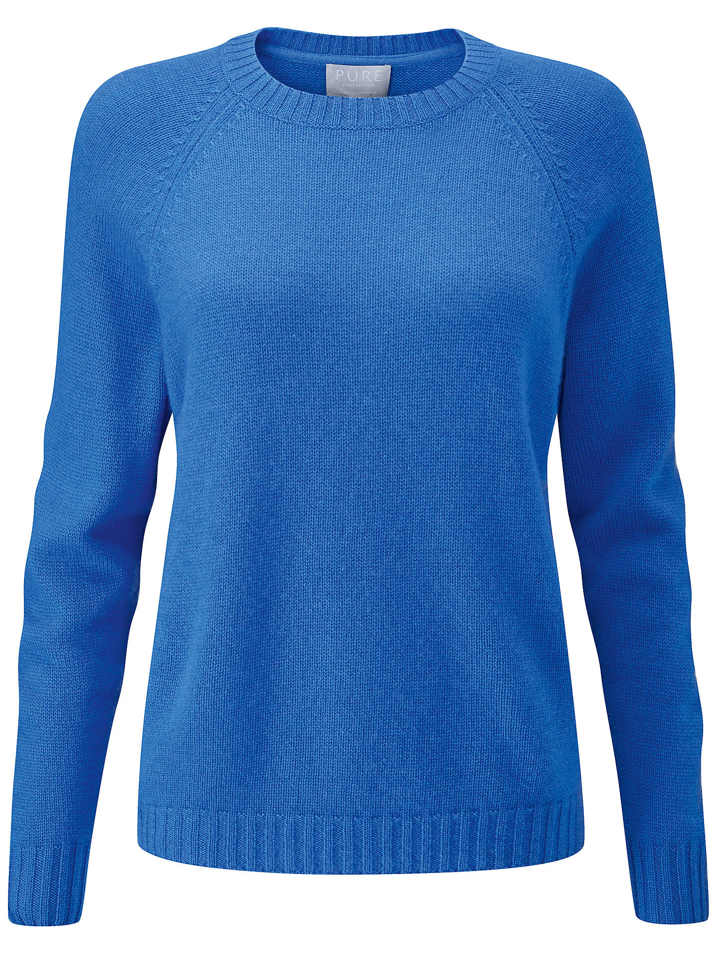 BuyPure Collection Cashmere Lofty Jumper, Soft Cobalt, 20 Online at johnlewis.com