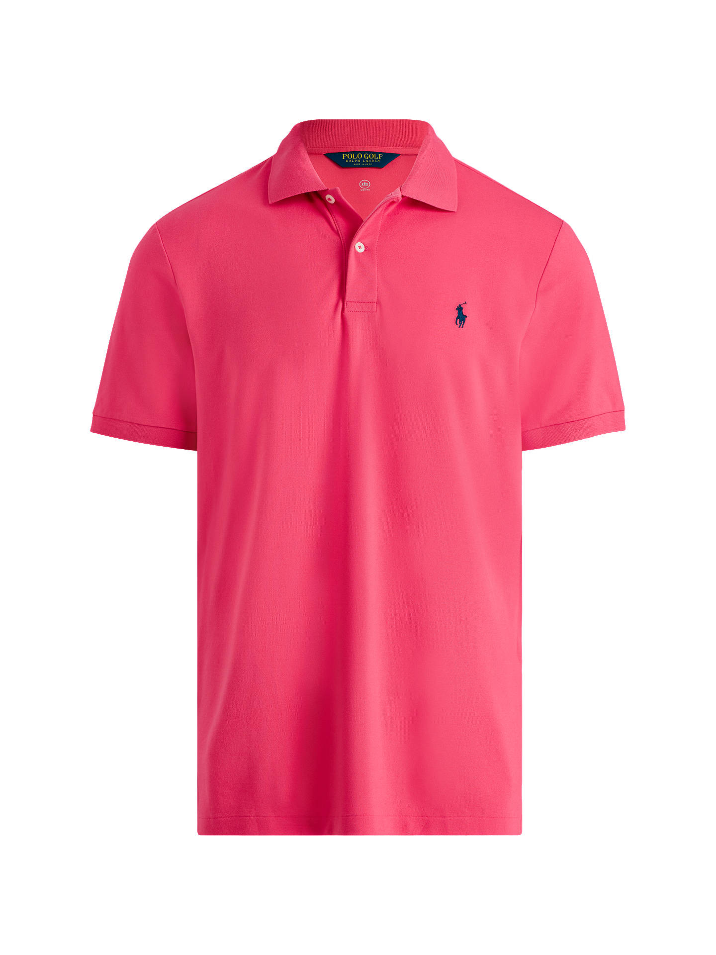 BuyPolo Golf by Ralph Lauren Short Sleeve Pique Polo Shirt, Exotic Pink, S Online at johnlewis.com