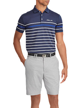 Buy Polo Golf by Ralph Lauren Tech Pique Polo Shirt, Navy/White/Royal, XXL Online at johnlewis.com