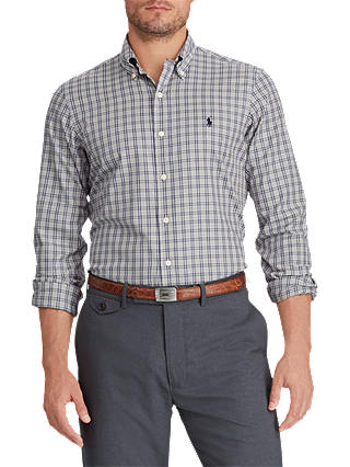 Buy Polo Golf by Ralph Lauren Luxury Shirt, Navy/Cream Multi, S Online at johnlewis.com