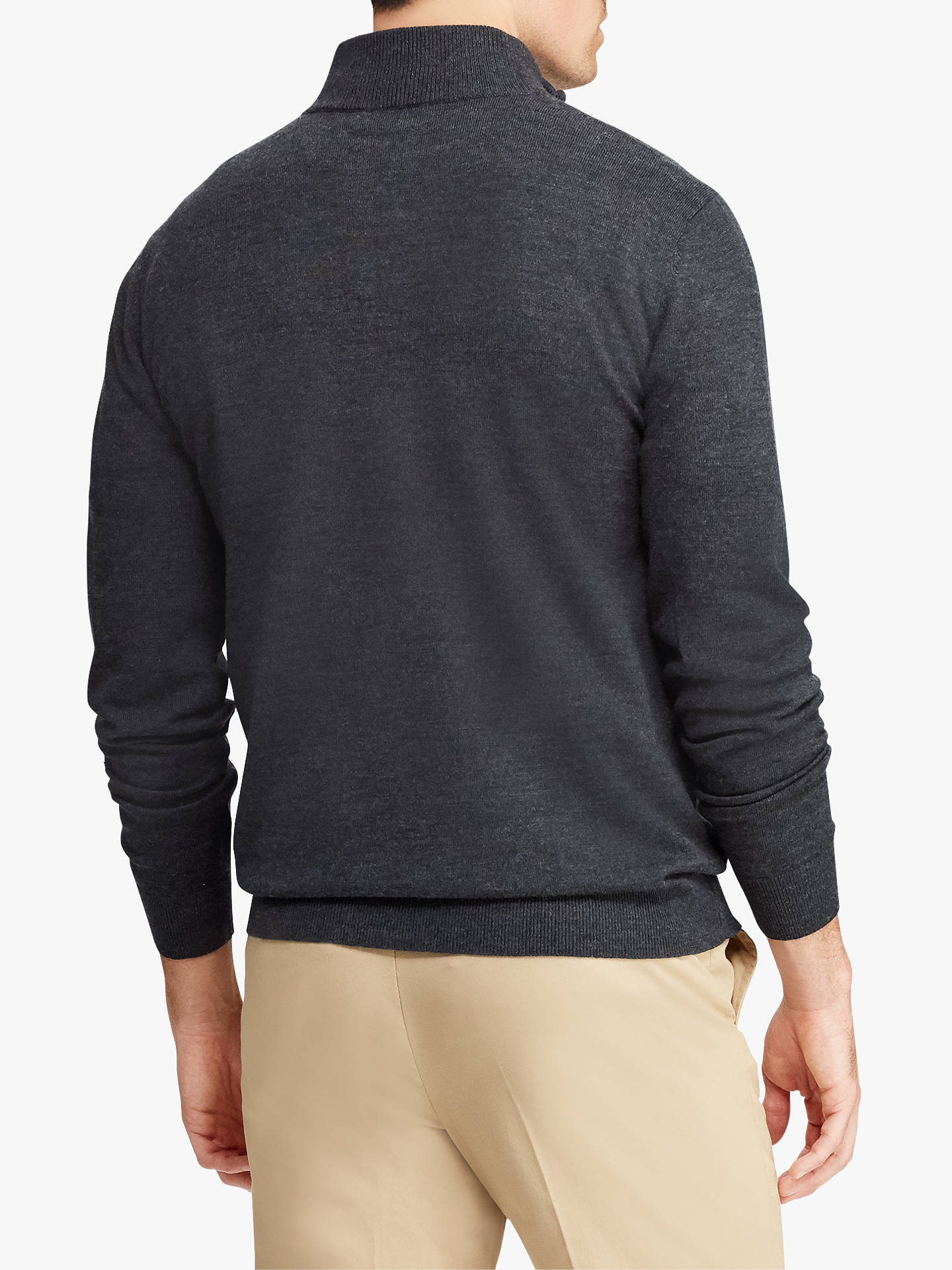 BuyPolo Ralph Lauren Merino Half Zip Jumper, Avery Heather, Avery Heather, M Online at johnlewis.com