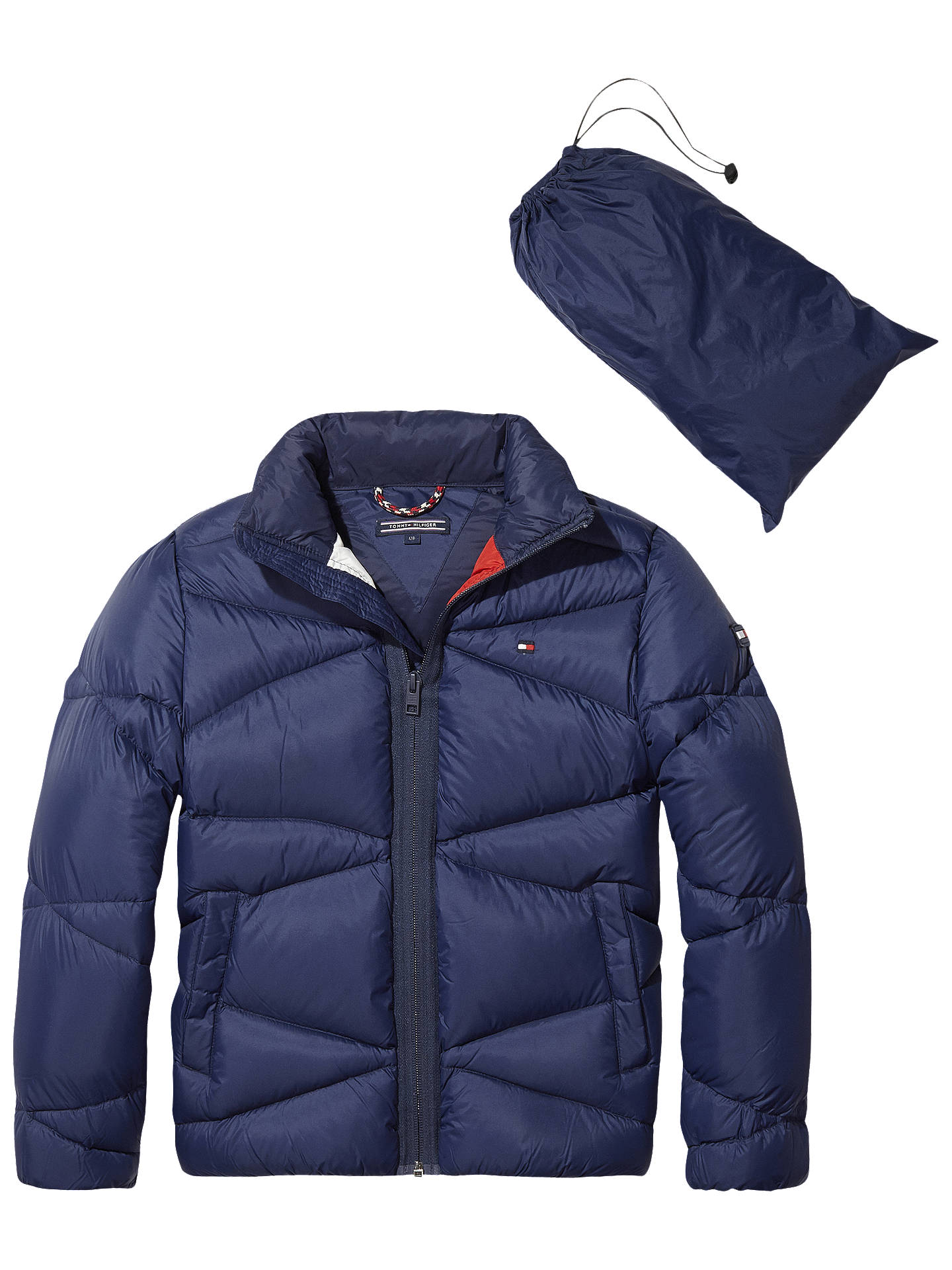 BuyTommy Hilfiger Boys  Pack Away Jacket, Blue, 7 years Online at johnlewis. dee93bf493