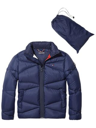 Tommy Hilfiger Boys' Pack Away Jacket, Blue