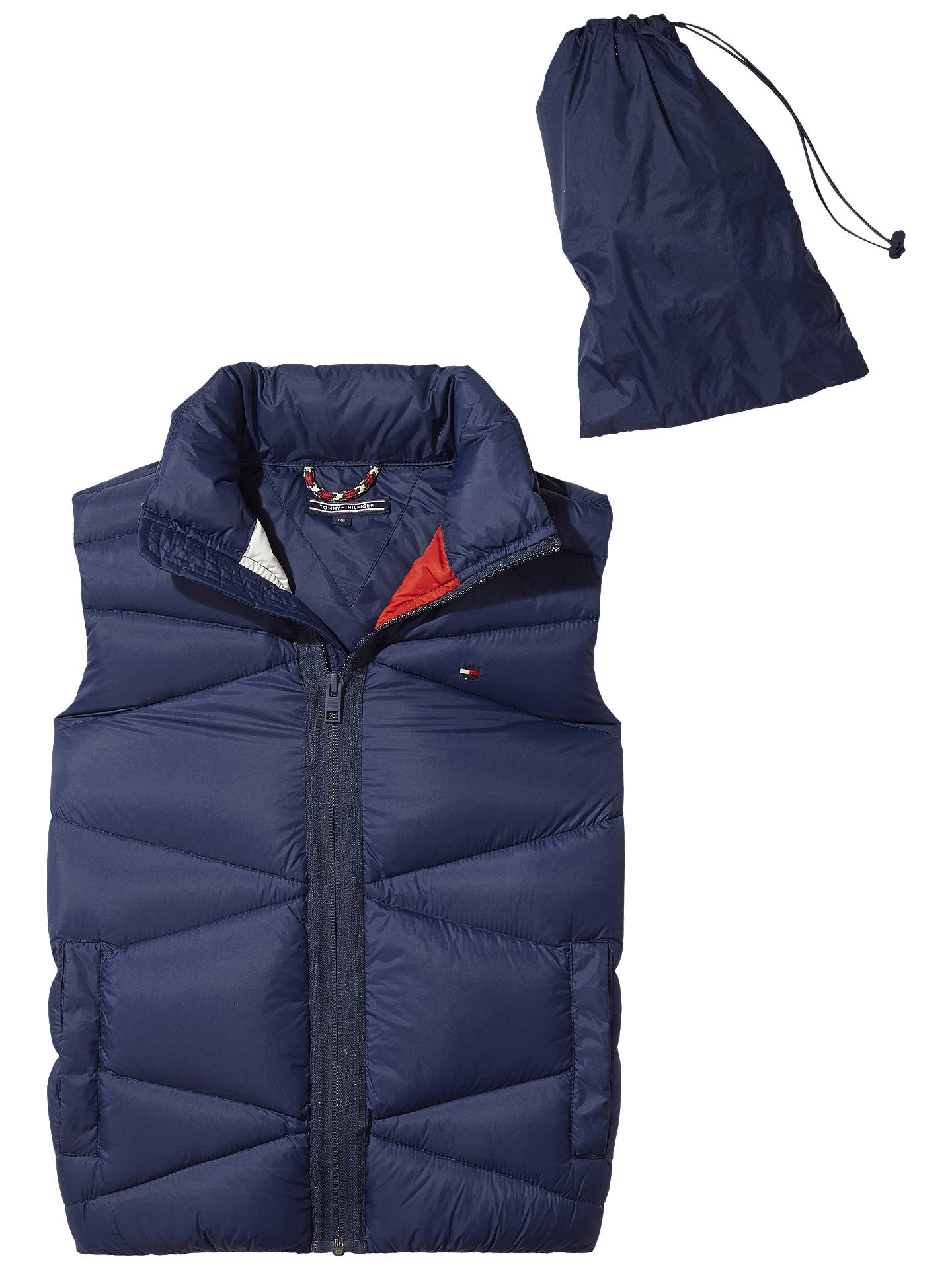 BuyTommy Hilfiger Boys  Pack Away Gilet, Navy, 7 years Online at johnlewis. 25d1f558eb