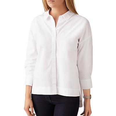 Pure Collection Cotton Embellished Shirt, White