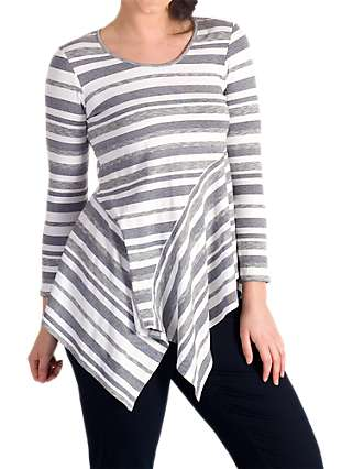 Chesca Stripe Jersey Top, Multi