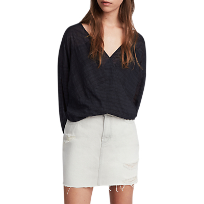 AllSaints Betty Skirt, Washed Grey