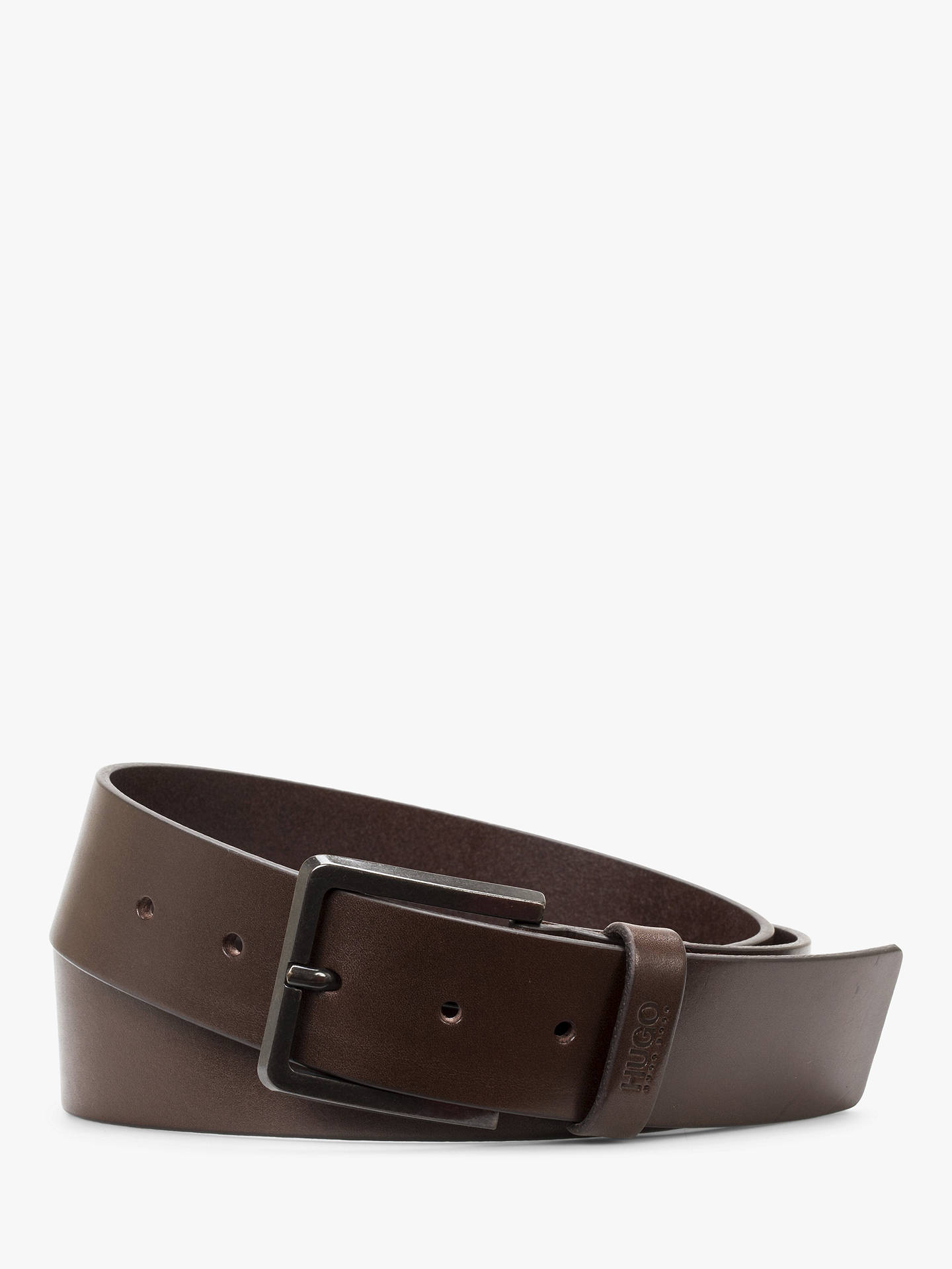 a8be097801c Buy HUGO by Hugo Boss Gionio Leather Belt, Brown, S Online at johnlewis.