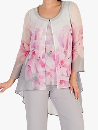 Chesca Rose Shrug, Dove Grey/Pink