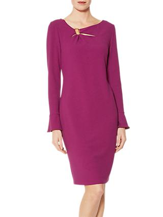 Gina Bacconi Nelly Scuba Dress, Aubergine