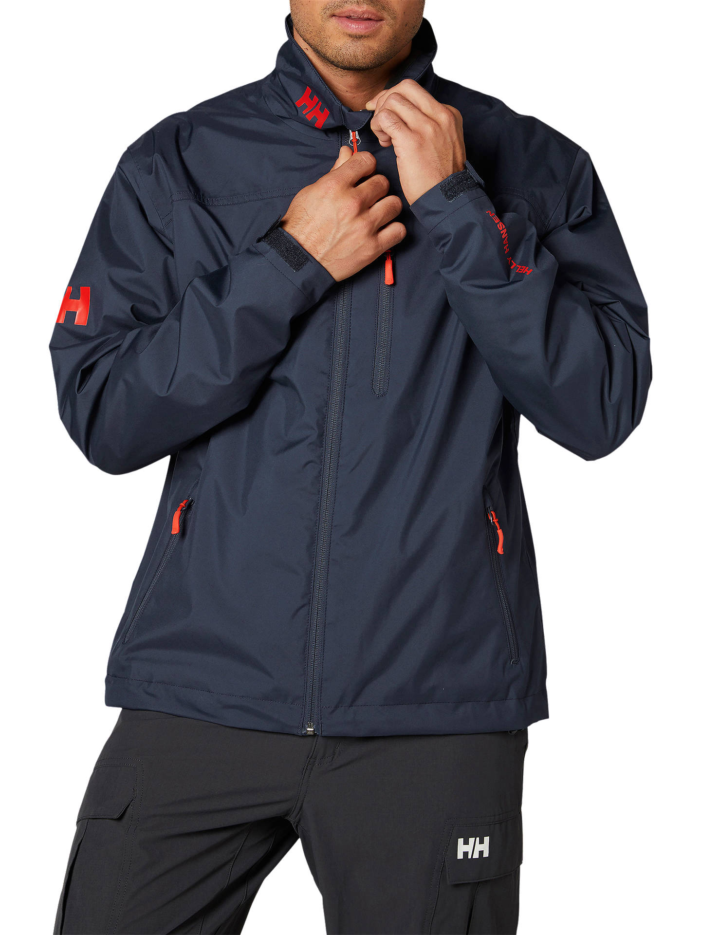 f8430916ea0 Buy Helly Hansen Crew Midlayer Men's Waterproof Jacket, Graphite Blue, S  Online at johnlewis ...