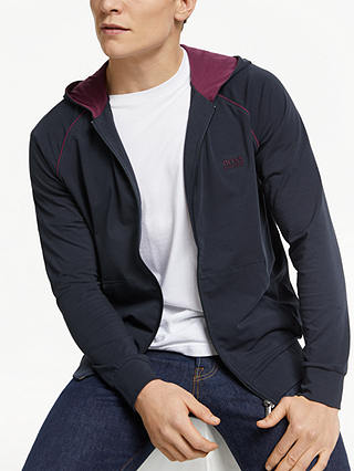 Buy BOSS Mix And Match Hoodie, Blue, M Online at johnlewis.com