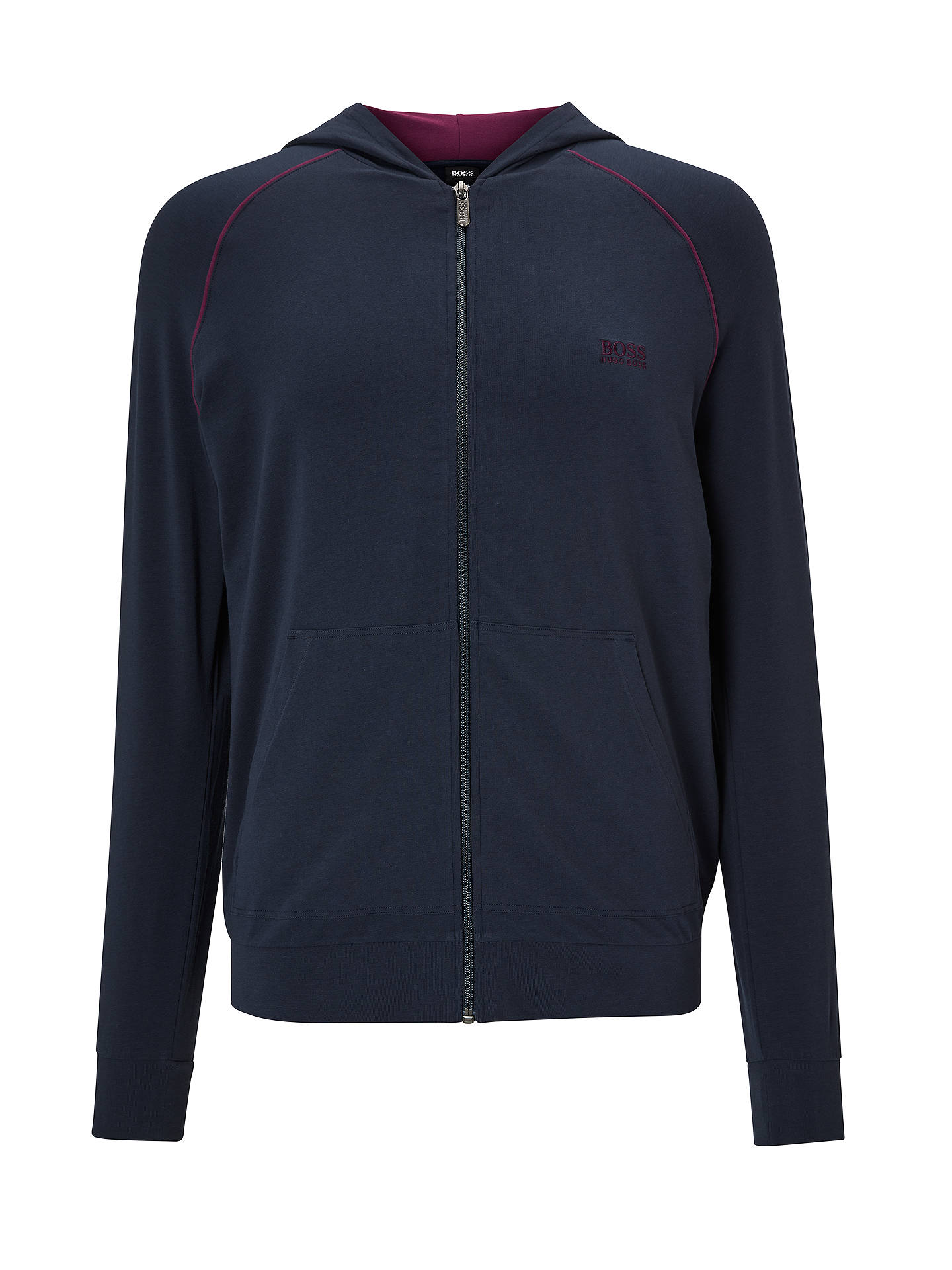 BuyBOSS Mix And Match Hoodie, Blue, M Online at johnlewis.com