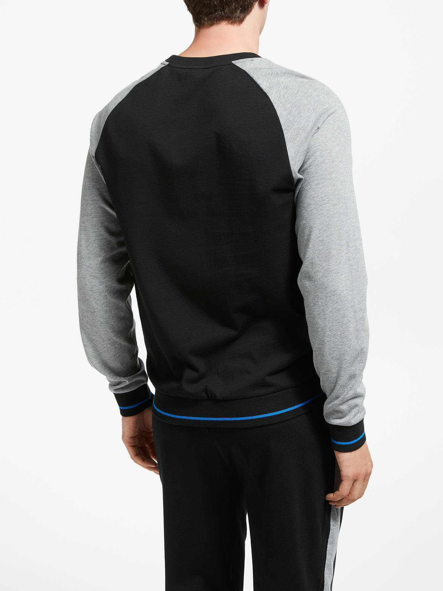 BuyBOSS Authentic Lounge Sweatshirt, Black, XL Online at johnlewis.com