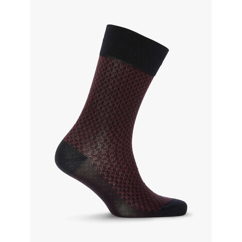 BOSS Mini Pattern Socks, Navy at John Lewis