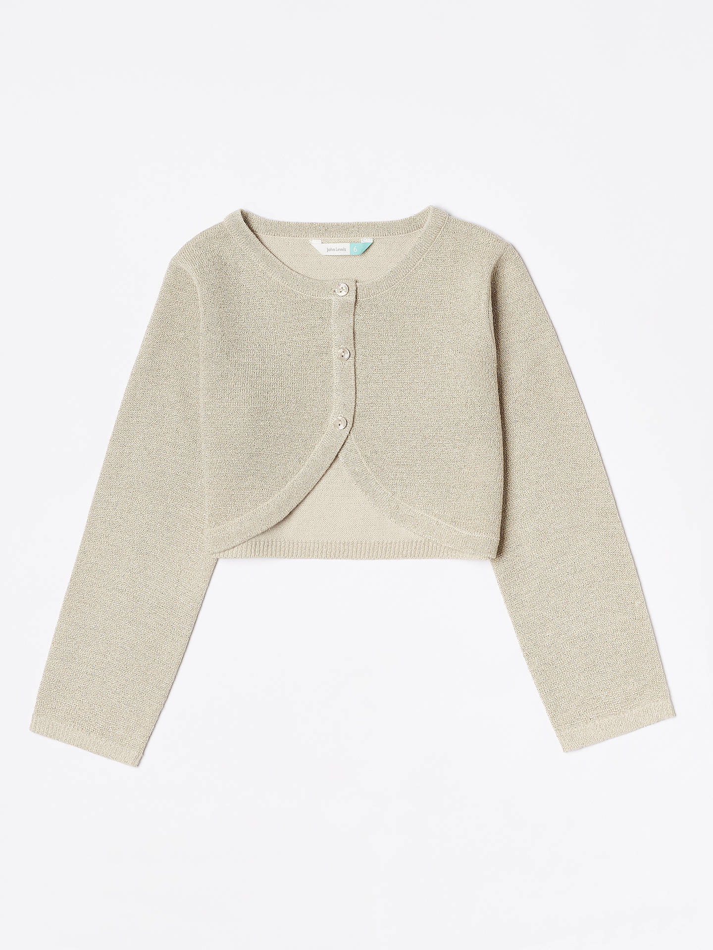 BuyJohn Lewis & Partners Girls' Party Cardigan, Cream, 2 years Online at johnlewis.com