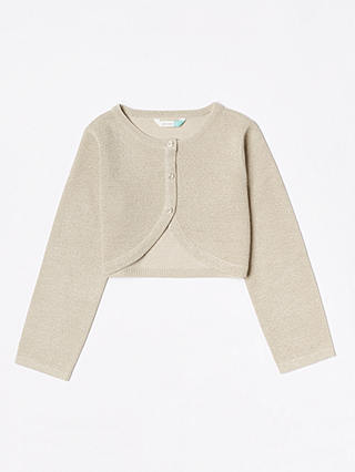 Buy John Lewis & Partners Girls' Party Cardigan, Cream, 2 years Online at johnlewis.com