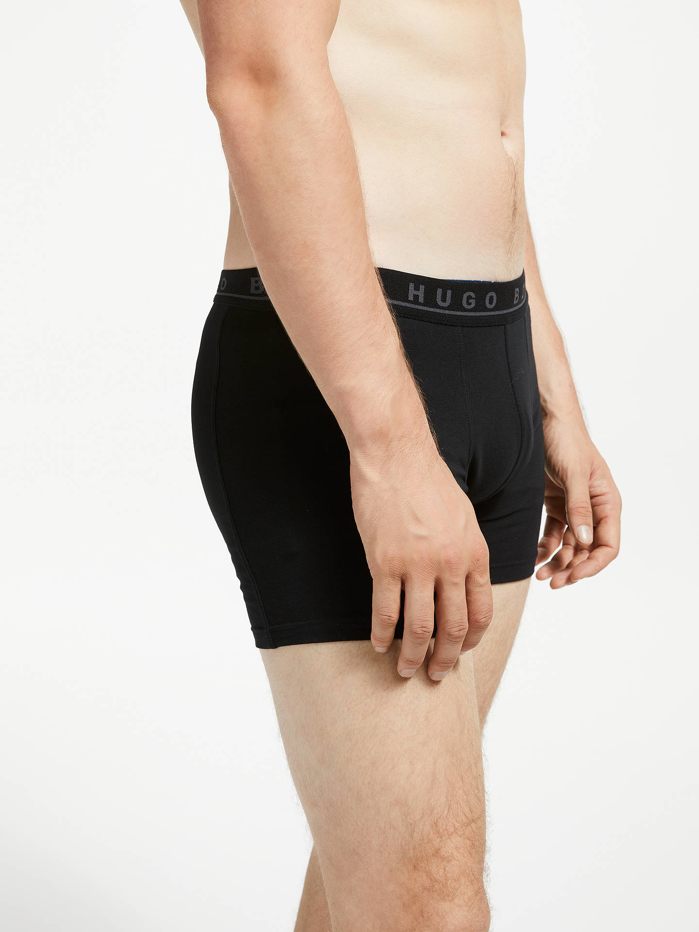 BuyBOSS Stretch Cotton Trunks, Pack of 3, Black/Blue/Red, XL Online at johnlewis.com