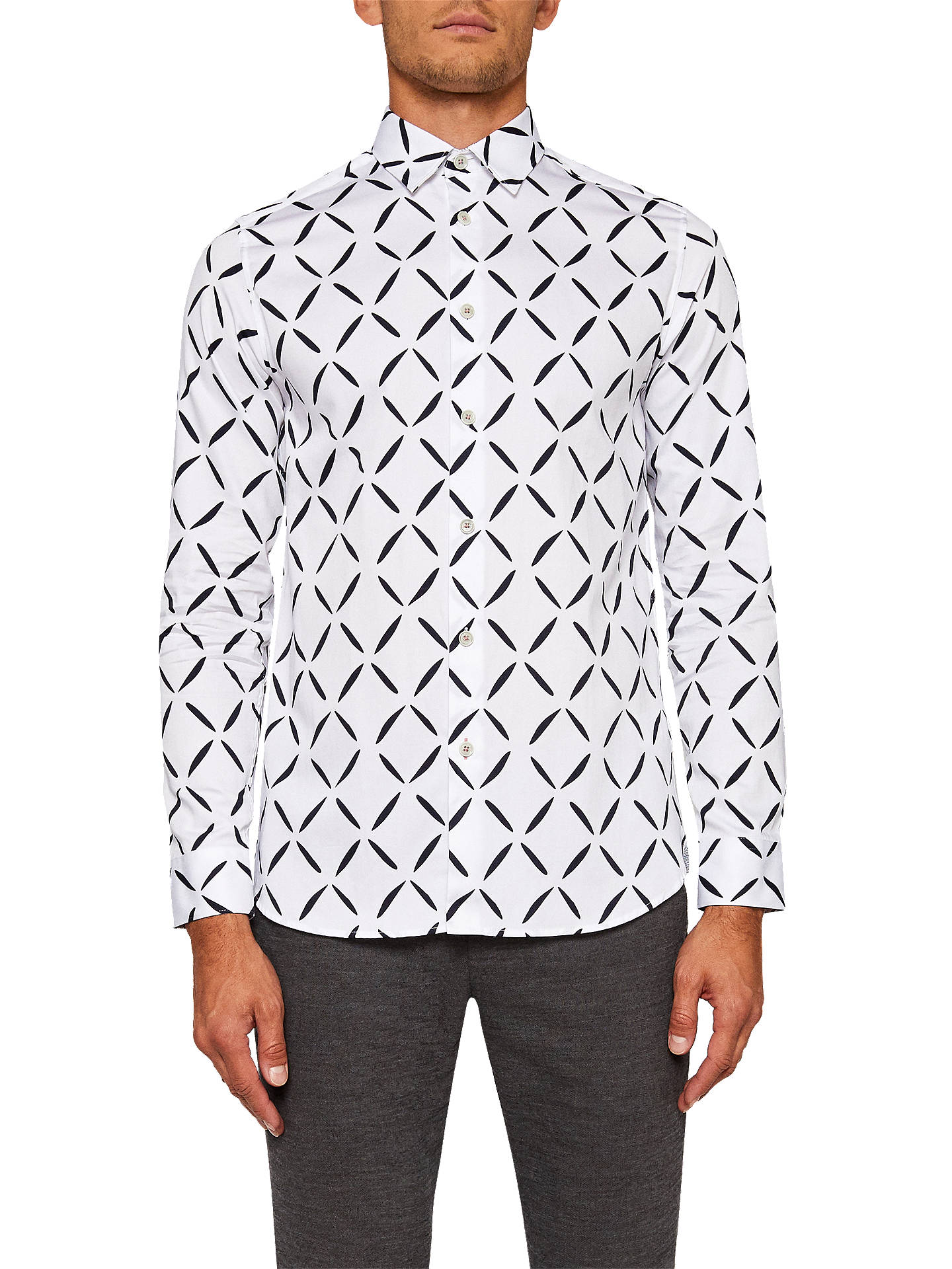 a2ca6c008087b1 Ted Baker Longbox Geometric Diamond Print Shirt at John Lewis   Partners
