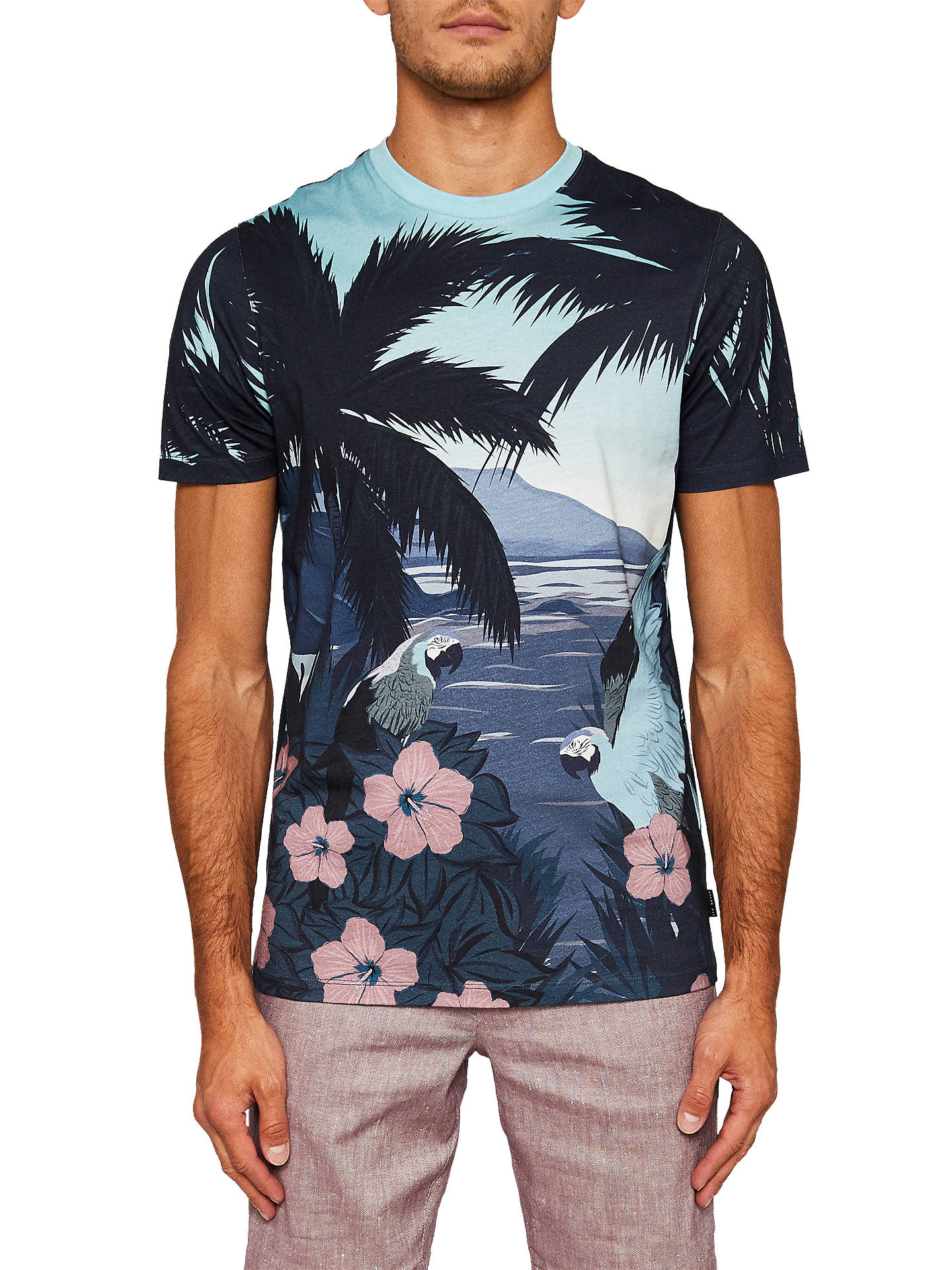 Buy Ted Baker Perdrop Short Sleeve Tropical Island T-Shirt, Blue, 7 Online at johnlewis.com