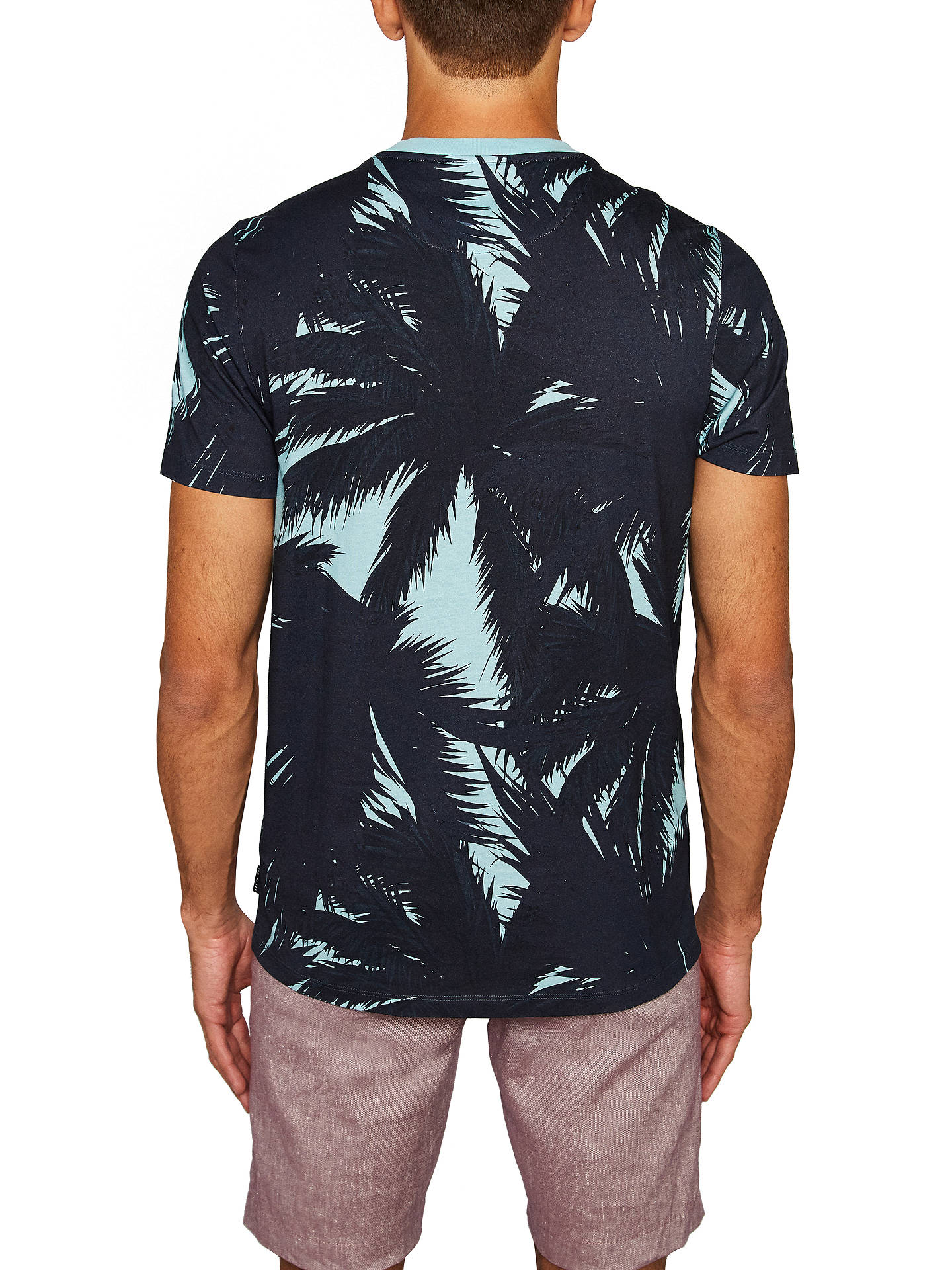 Buy Ted Baker Perdrop Short Sleeve Tropical Island T-Shirt, Blue, 3 Online at johnlewis.com