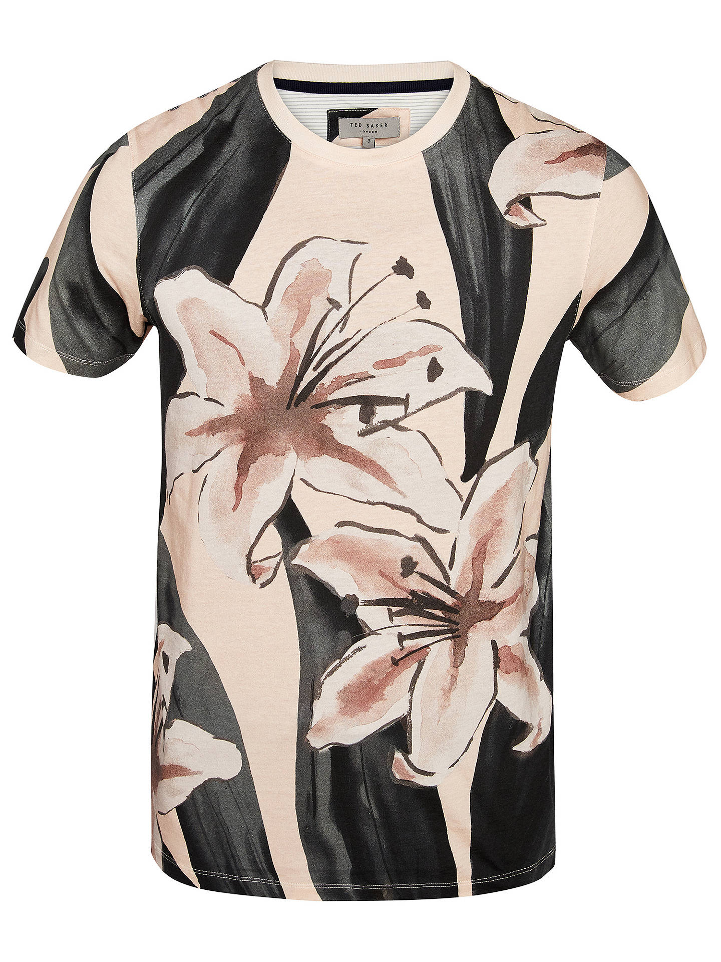 Buy Ted Baker Milions Floral Placement Cotton T-Shirt, Dusky Pink, 4 Online at johnlewis.com
