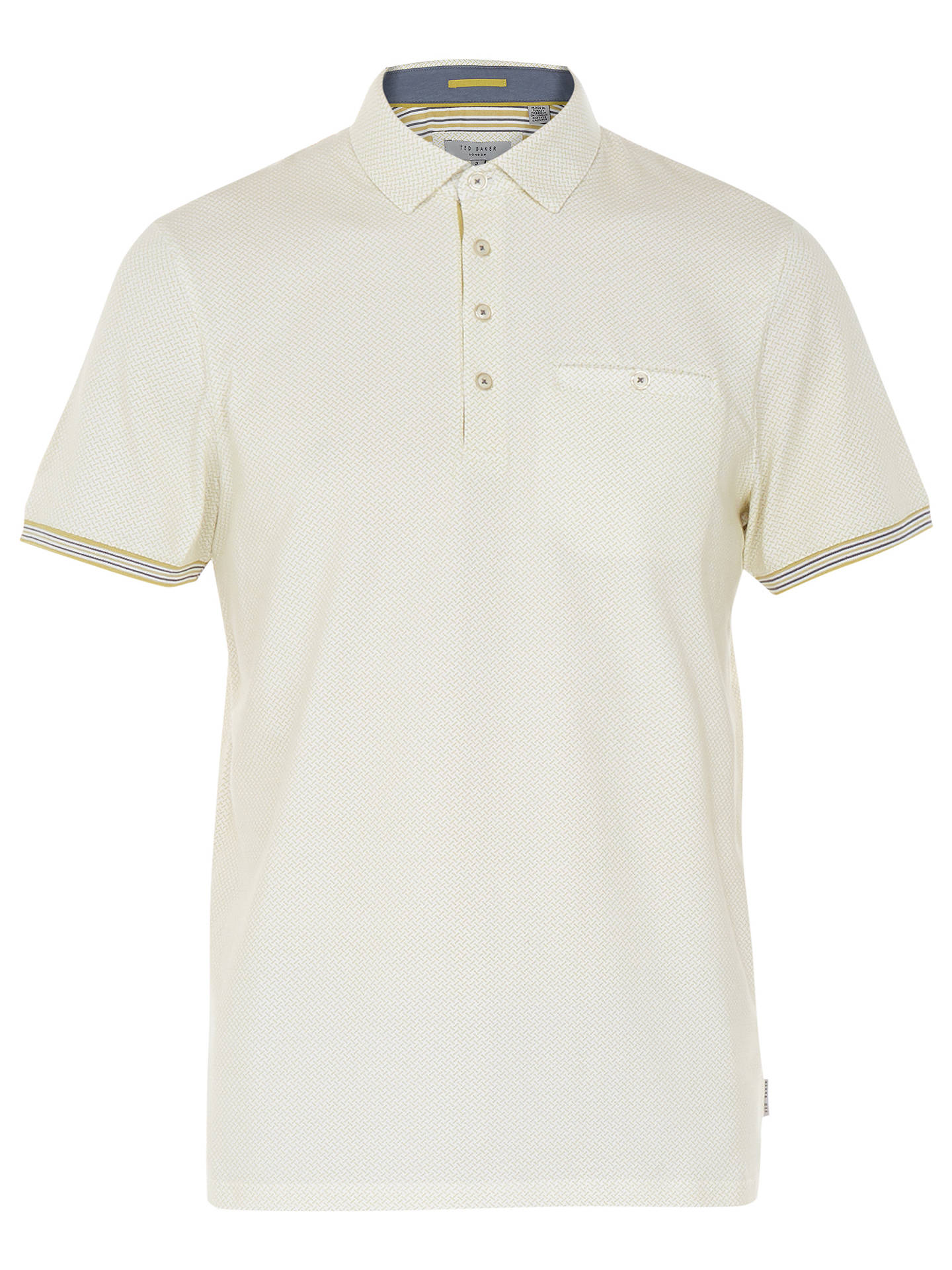 BuyTed Baker Lemsher Short Sleeve Polo Shirt, Yellow, 7 Online at johnlewis.com