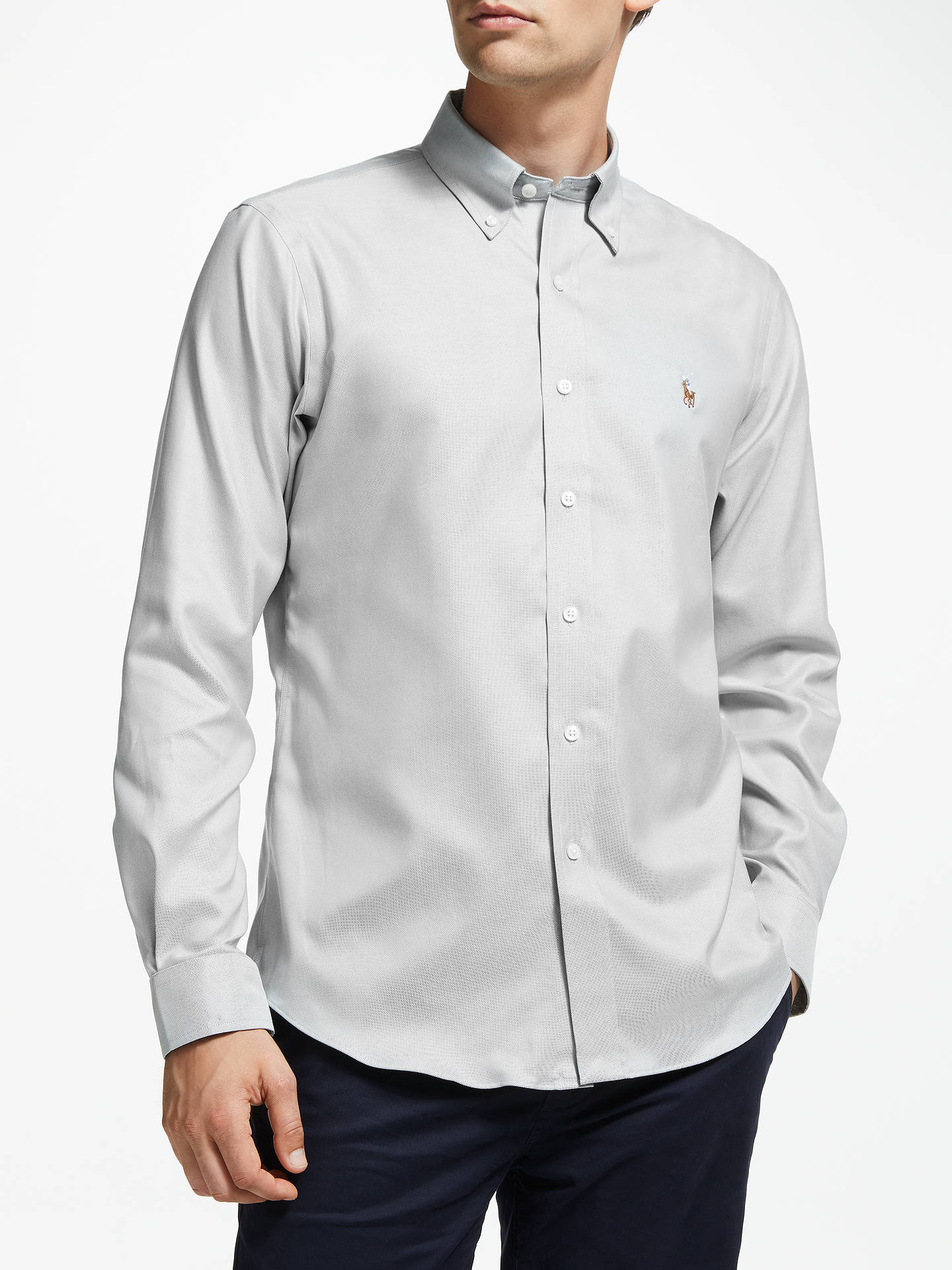 c9d36999 Buy Polo Golf by Ralph Lauren Oxford Shirt, Slate, XXL Online at johnlewis.