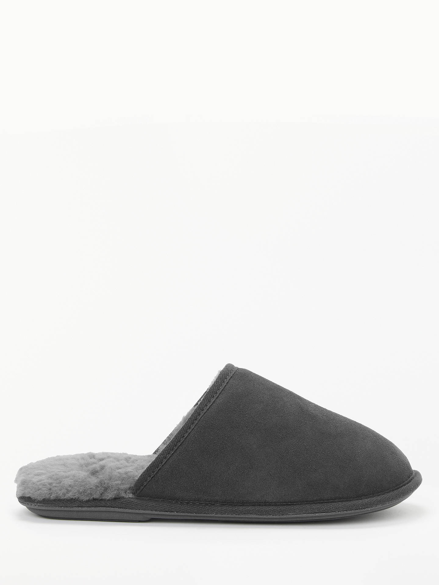 BuyJohn Lewis Sheepskin Mule Slippers, Grey, S Online at johnlewis.com
