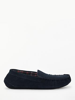 John Lewis & Partners Archie Moccasin Slippers, Navy
