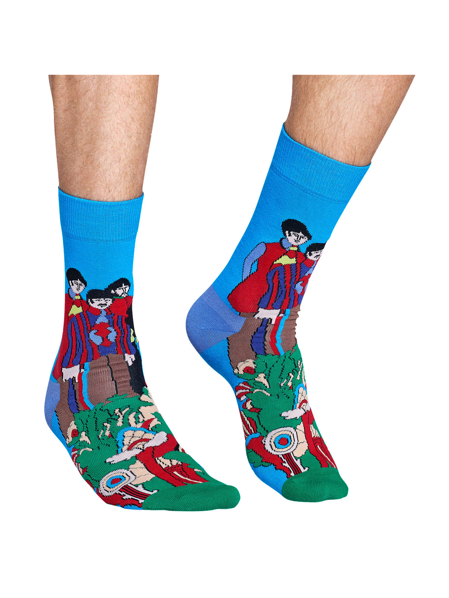 BuyHappy Socks Beatles Pepperland Socks, One Size, Blue/Multi Online at johnlewis.com