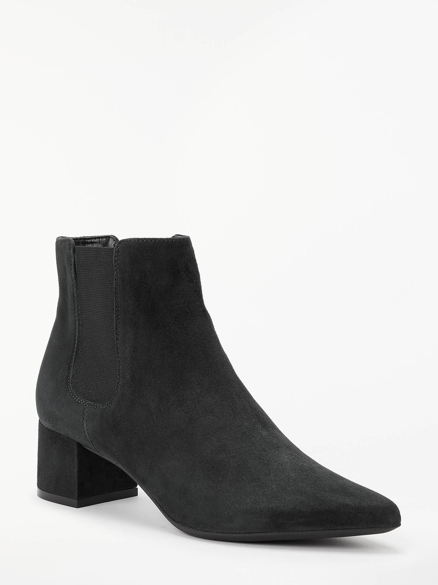 BuyJohn Lewis & Partners Octavia Pointed Toe Chelsea Boots, Black Suede, 6 Online at johnlewis.com