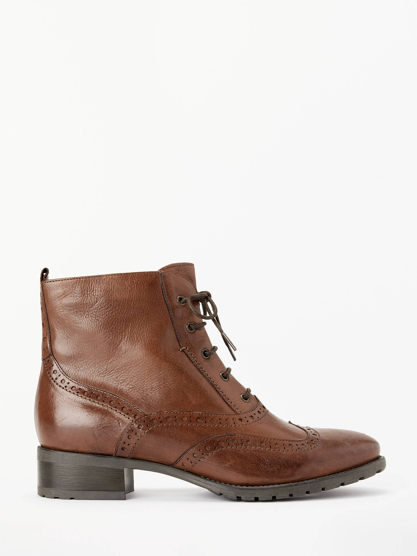 401b965c7da31 Buy John Lewis & Partners Cambridge Lace-Up Ankle Boots, Brown Leather, 3  ...