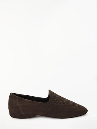 John Lewis & Partners Seville IV Textured Suede Slippers, Brown